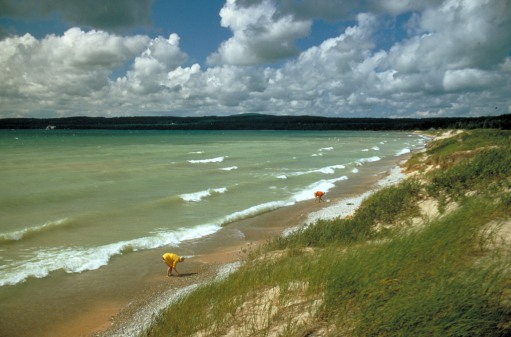 Lake Michigan beach, Petoskey, Michigan - Michigan Travel Bureau - EPA