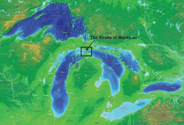 Straits of Mackinac - credit NOAA